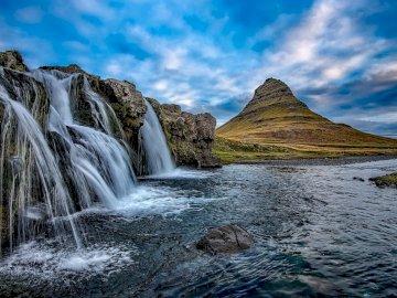 Vízesések - Izland - vad táj