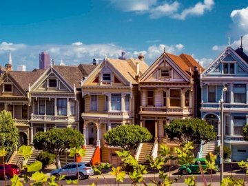 Colorful Houses, San Francisco - Colorful Houses, Street, San Francisco