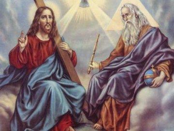 BÓG OJCIEC, SYN BOŻY, DUCH ŚWIĘTY - UŁÓŻ PUZZLE. DOBREJ ZABAWY!