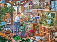 Festő műhely