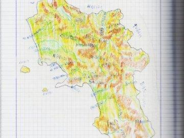 campania - la cartina della campania