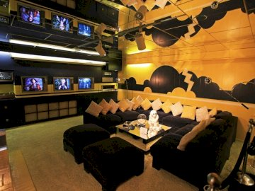 Graceland TV Lounge - The TV Lounge In Graceland's Basement May Be The First Example Of A Man Room.