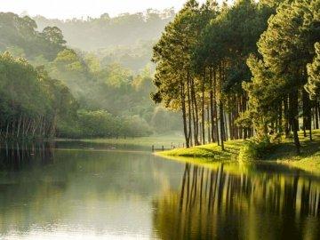 Krajobraz rzeki - Krajobraz rzeki można układać już.