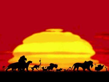leu rege - Puzzle King Lion, ușor