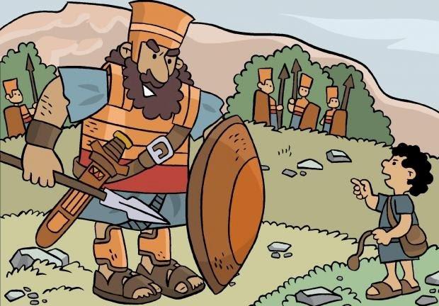 David et Goliath - David et Goliath avant la bataille