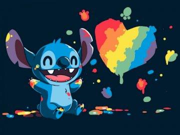 Tęczowy Stitch kawaii - Stitch'a pokochały juz miliony dzieci, dołączysz do Nas?