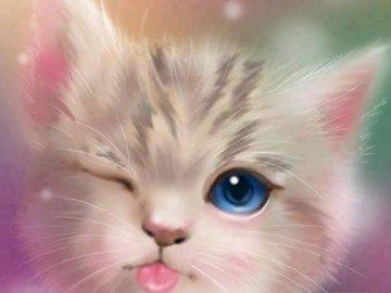 Prea draguta pisica - Prea draguta pisica si aceste culori!