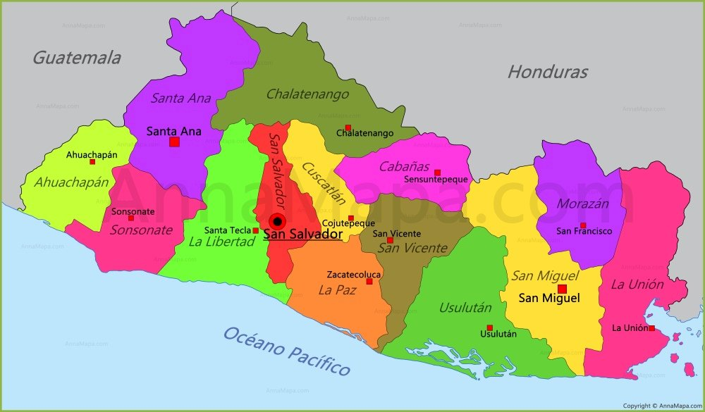 Map Of El Salvador Play Jigsaw Puzzle For Free At Puzzle Factory