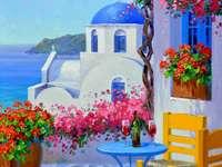 Romantik i Santorini