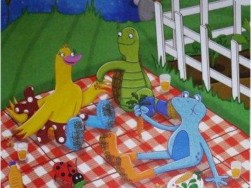 Αλλά θέλω μάρκες - Οι Frankie, Tex, Spot, Dizzy τρώνε λαχανικά.