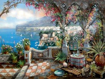 Vacker utsikt - vacker utsikt över Medelhavet