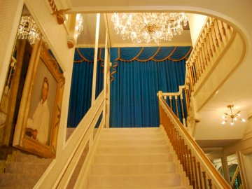 Graceland Stairway - This Is A Stairway At Graceland Which Goes Upstairs To All The Bedrooms Including Elvis Presley