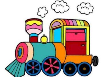 TRAIN - puzzle - Make puzzles. Name the vehicle you see. Ułóż puzzle. Nazwij pojazd który widziesz.