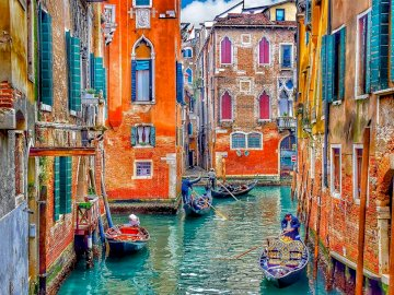 Venetian canal - canal in Venice, vacation