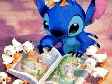 """Słodki Stitch - """"Słodki Stitch""""...no wiem...tytuł trochę nie pasuje ale """"Stitch i kaczki"""", sa"""