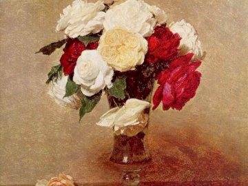 Rosenstrauß - Bild eines Rosenstraußes in einer Vase