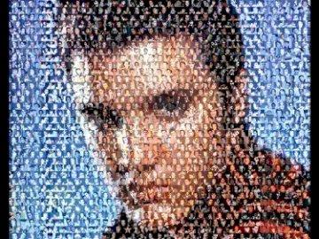 Elvis Presley Photomosaic - To jest zdjęcie Elvisa z 1956 roku ze zdjęciami