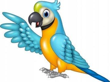 papuga ara - niezwykle kolorowa papuga ara rysunek