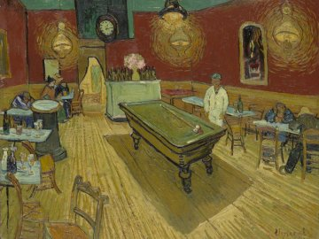 van Gogh - The Night Cafe - sztuka, malarstwo, van gogh, nocna kawiarnia