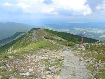 Mountain view - View at the descent from Babia Góra