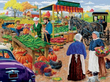 Country market - buzz on the village square