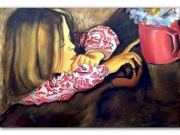Helenka with a vase - Wyspianski Helenka with a vase and flowers