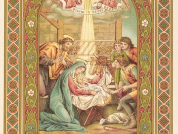 Gloria in excelsis Deo - and they went hastily and found Mary Joseph and the Baby lying in a manger.