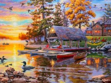 Przystań z kanoa - przystań z wypożyczalnią kanoa
