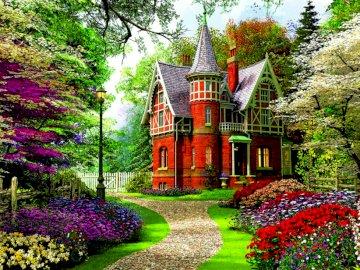 Viktorianisches Herrenhaus - Blick auf die viktorianische Burg