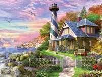 Une maison avec une tour