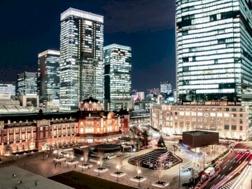 Japan by night - Urban landscape at night somewhere