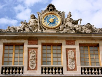 Pałac w Wersalu - Fragment pałacu w Wersalu