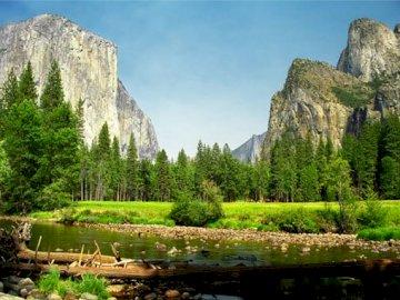Landscape - mountains - Compose puzzles with a mountain landscape