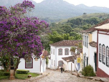 Brazil - A street in an old town