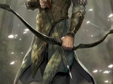 ARCHER - An archer holding a bow in his hand. In general, puzzles are easy. RECOMMEND!
