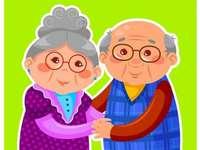Nonna e nonno - nonna e nonno - Nonna e nonno - nonna e nonno. Buona posa!