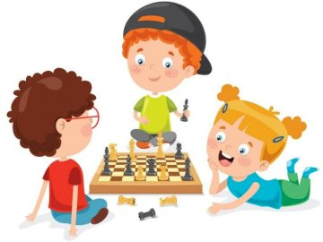 Better together - The picture shows children playing chess