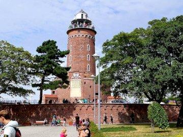 KOŁOBRZEG - Latarnia morska - KOŁOBRZEG, Polska, Latarnia morska, cegły budowlane, Morza Bałtyckiego