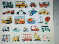 moyens de transport - Veuillez regarder attentivement les pièces et organiser les puzzles