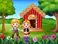 Puzzle Hansel et Gretel - Le puzzle de l'histoire traditionnelle de 'Hansel et Gretel'