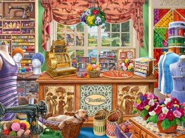 En mercería - tienda - en la tienda de mercería, exposición