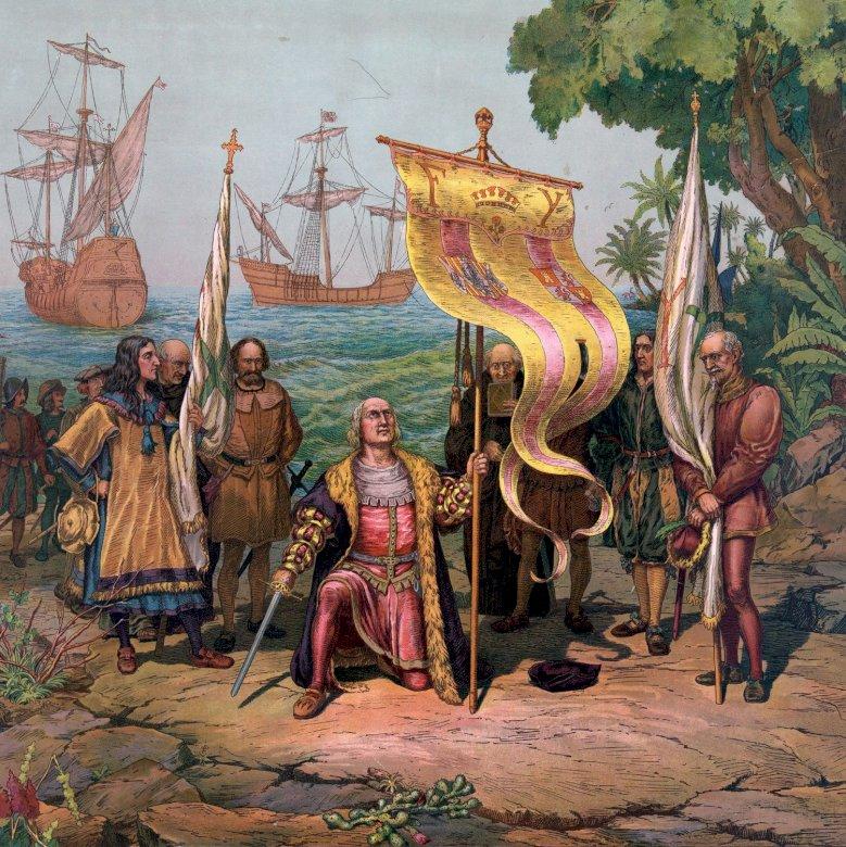 Откриването на Америка - Откриването на Америка от Христофор Колумб (5×5)