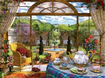 Afternoon tea on the veranda