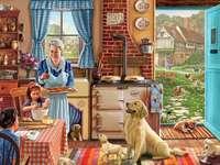 Vytváření cookies u babičky