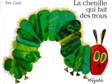 La chenille qui fait des trous - Le puzzle de la couverture de l'album La Chenille qui fait des trous - 9 pièces