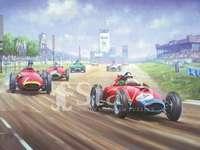 Grand Prix d'Allemagne - Ceci est une photo rare de la course automobile qui se tient en Allemagne depuis 1926.