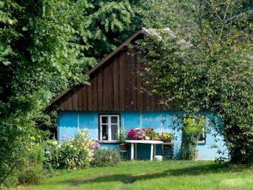 Old cottage - beautiful blue cottage -------------