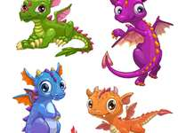 vier kleine Drachen