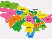 mapa města bogota - bogota odděleny lokalitami