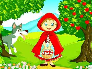 RED RIDING HOOD PUZZLE - CHILDREN'S PUZZLE OF CAPERUCITA AND THE WOLF